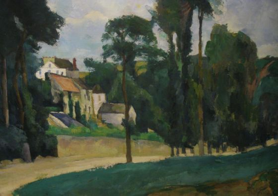 Cezanne, Paul: Road at Pontoise. Fine Art Print/Poster. Sizes: A4/A3/A2/A1 (004236)